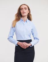 Ladies` Long Sleeve Tailored Herringbone Shirt