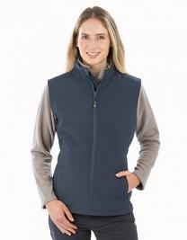 Womens Recycled 2-Layer Printable Softshell Bodywarmer